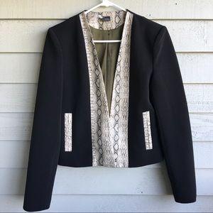 Sparkle & Fade Black Snake Trim Jacket Blazer